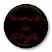 Grand badge noir Niowk is style rouge